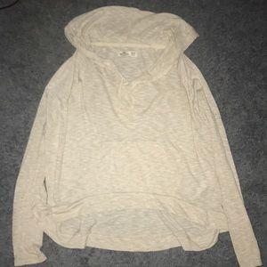 Hollister tan hoodie